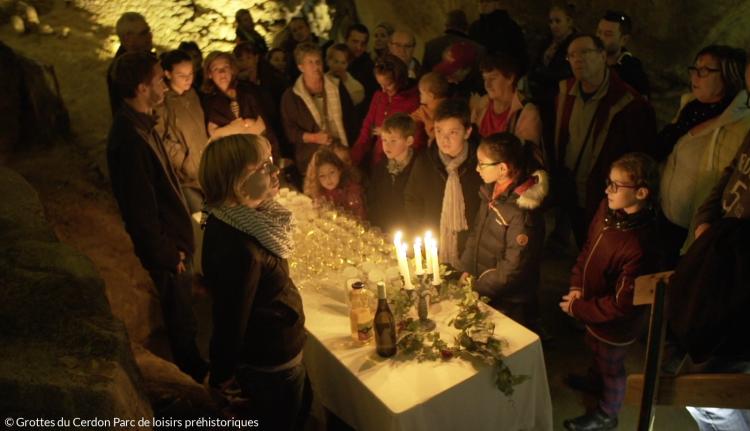 Chasse aux saveurs oenologiques aux Grottes du Cerdon parc de loisirs préhistoriques